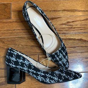 NWT Ann Taylor Tweed Block heels, size 8.5